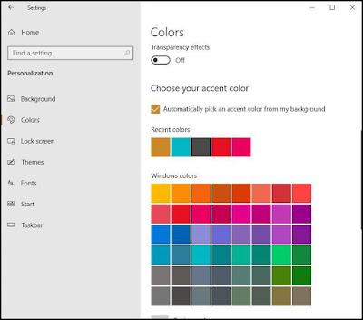 تعطيل الشفافية في ويندوز Windows 10