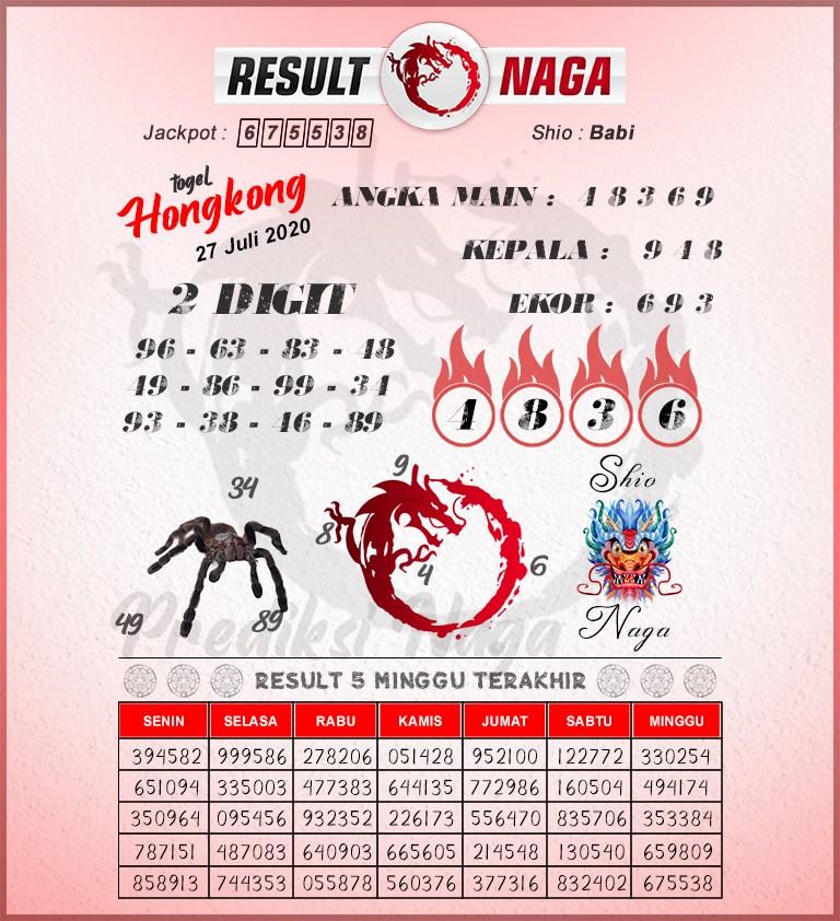 syair hk result naga 27 juli 2020