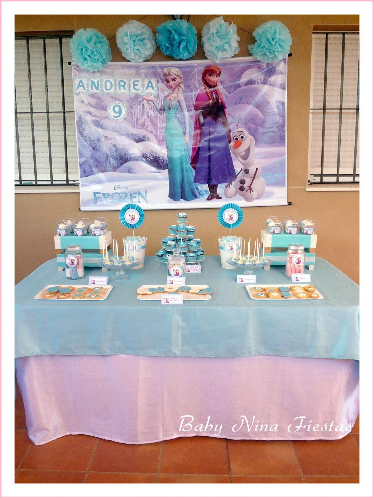 Baby Nina Fiestas Mesa Dulce Frozen Para Andrea