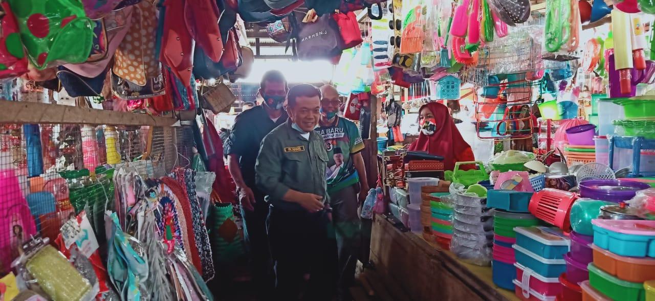 Blusukan ke Pasar Atas Sarolangun, Al Haris Diteriaki Gubernur Jambi