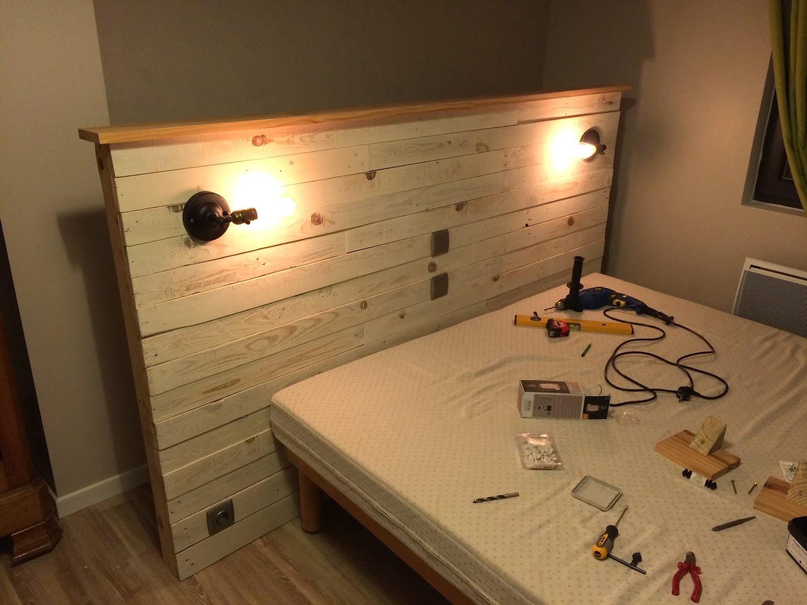Comment faire une t te de lit en bois de palette - Comment faire une tete de lit en palette ...