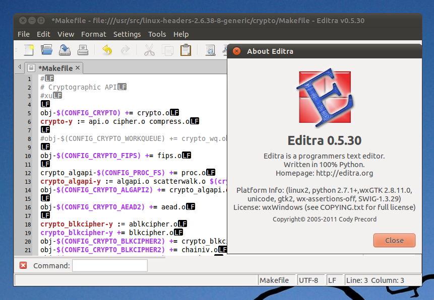 How to Install Editra (text editor for programmers!) in