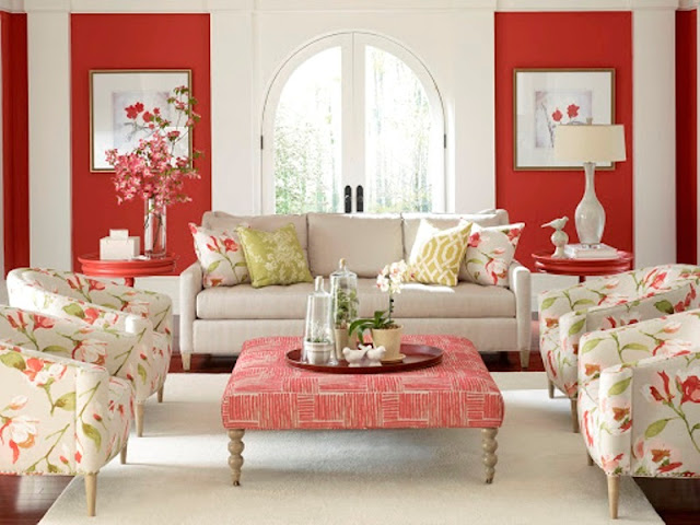 interior tema floral