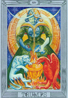 Sagittarius and the Holy Guardian Angel: Thoth Tarot trump Art XIV