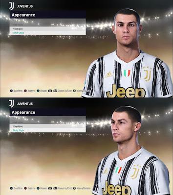 PES 2021 Faces Cristiano Ronaldo by Qiya