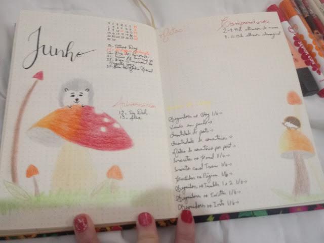 Bullet Journal Junho