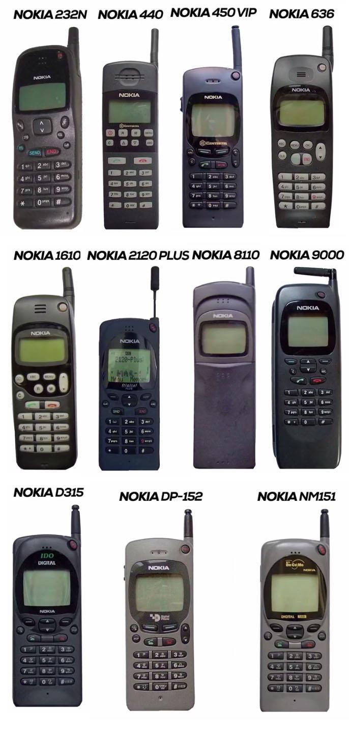 Nokia Mobile Phones in 1996