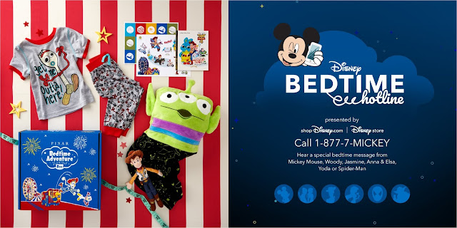 Disney Bedtime Hotline and Pixar Adventure Box