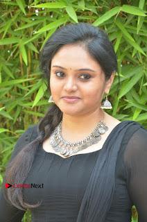 Actress Kala Kalyani Stills in Black Salwar Kameez at Engeyum Naan Iruppen Audio Launch  0006.jpg