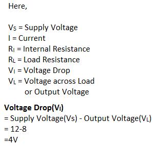 voltage drop formula and calculation