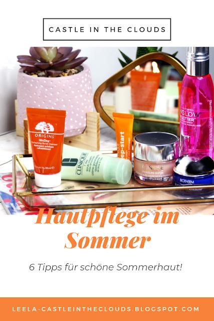 Tipps zur Hautfpflege im Sommer Pinterest