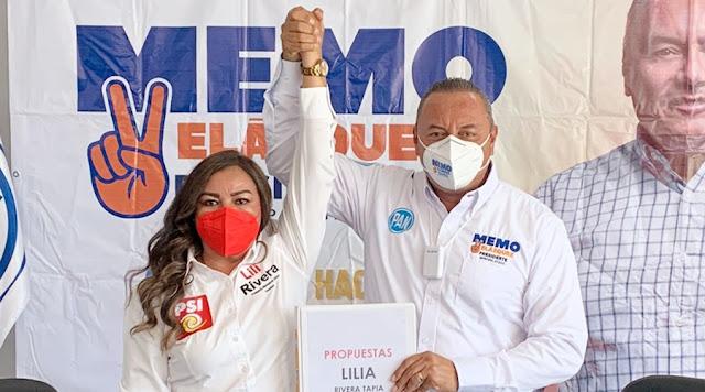 Se une candidata del PSI a campaña de Guillermo Velázquez