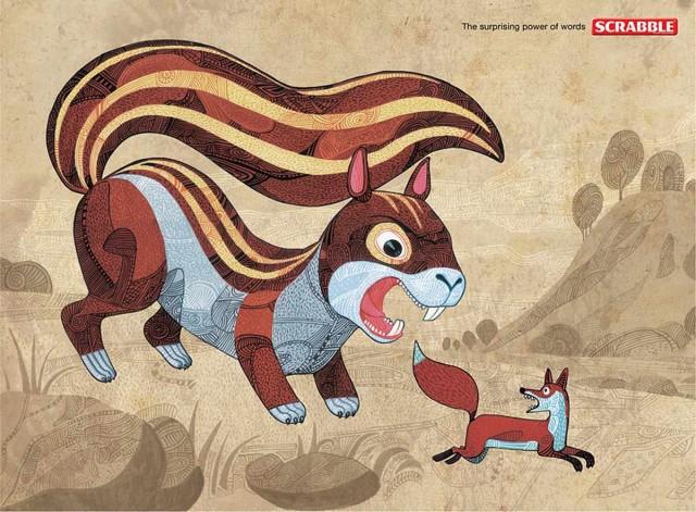 """Scrabble Squirrel """"Sức mạnh đáng ngạc nhiên của từ"""""""