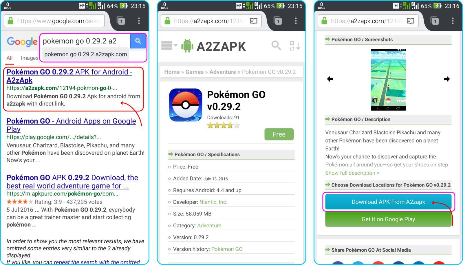 Cara Install Pokemon GO - Kunjungi Situs Penyedia APK Pokemon GO