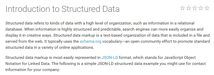 Know more about Structured Data