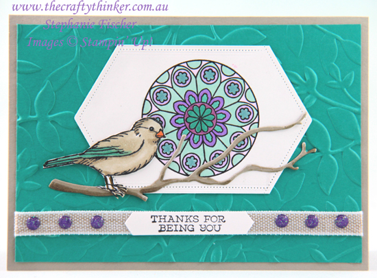 #thecraftythinker.com.au  #stampinup  #freeasabird  #paintedglass #cardmaking , Free As A Bird, Layered Leaves, Painted Glass, Stampin' Up Demonstrator, Stephanie Fischer, Sydney NSW