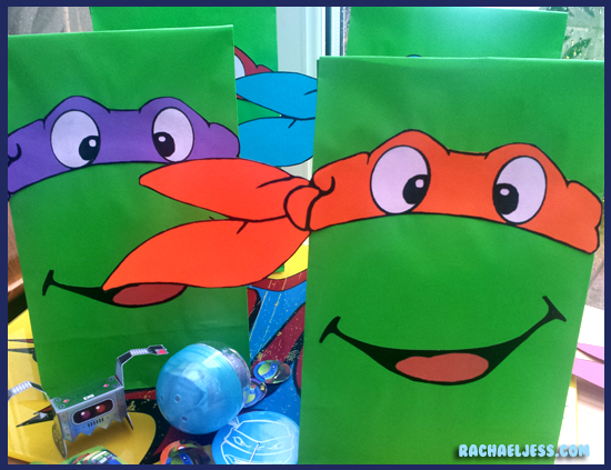 Creating Teenage Mutant Ninja Turtle party bags