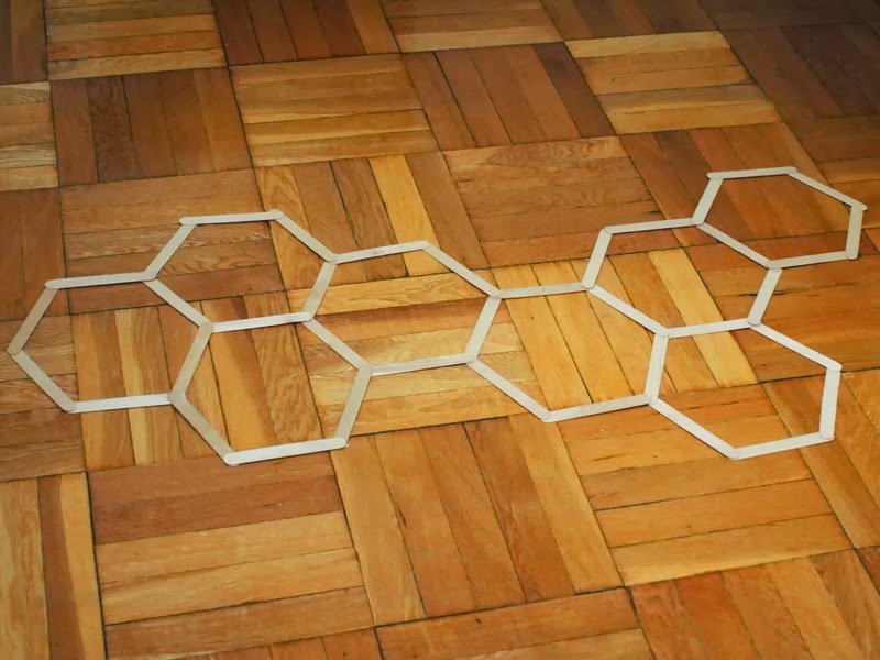 Diy Honeycomb Hexagon Popsicle Stick Wall Art Pink