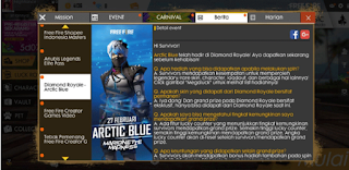 Arctic Blue Free Fire, Daftar List Barang Bundle Arctic Blue FF dari Diamond Royale Free fire