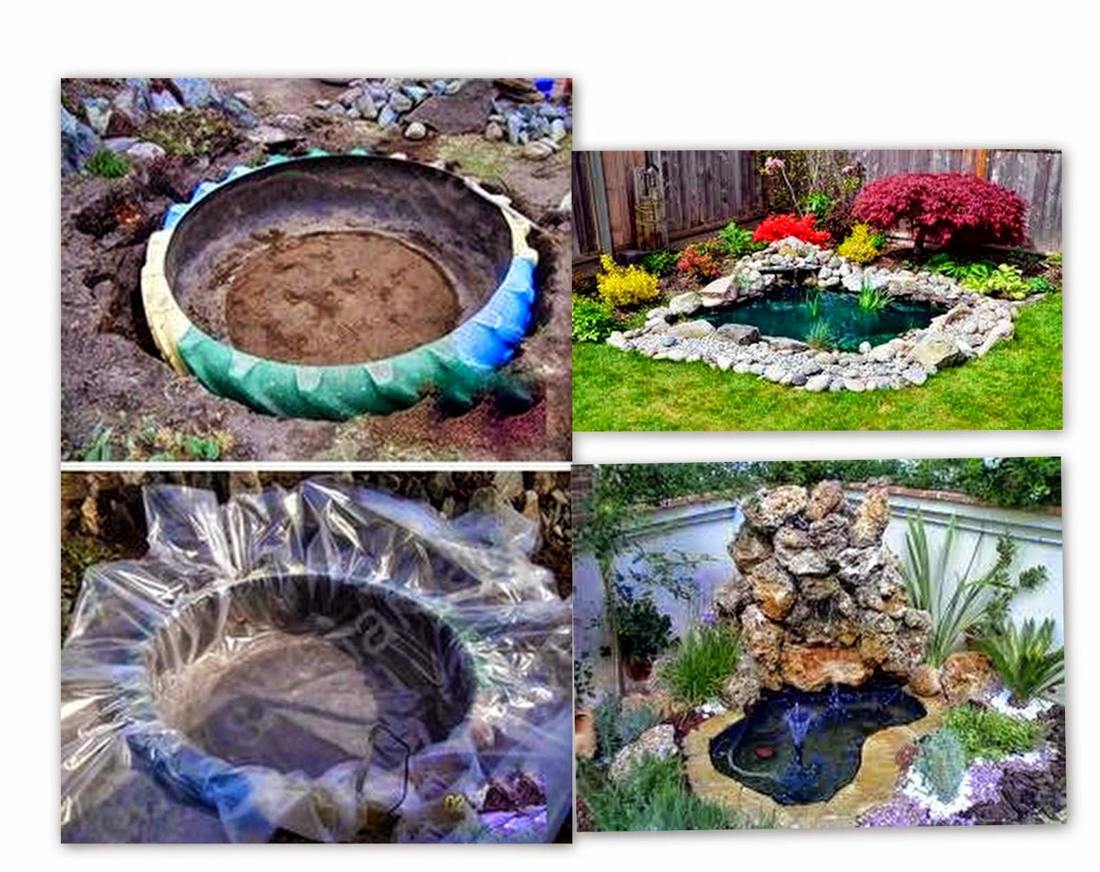 Las creaciones de antadi reciclar y decorar con piedras for Jardines reciclados