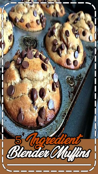 This recipe for 5 Ingredient Blender Muffins is so easy to make and it is grain free, dairy free and gluten free! It takes less than five minutes to prepare the batter in your blender.