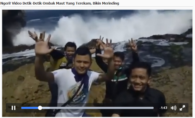 NGERI Video detik detik ombak maut yang terekam, bikin merinding, Jangan Ditiru