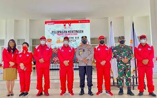 Gubernur Sulut Lepas Kontingen PON, Danlanud Sam Ratulangi Jadi Ketua Kontingen