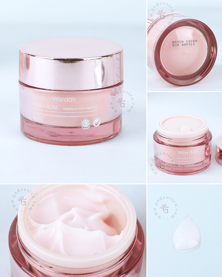 Review Wardah Hydra Rose Moisture Rich Night Gel