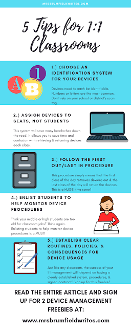5 tips for 1:1 classrooms