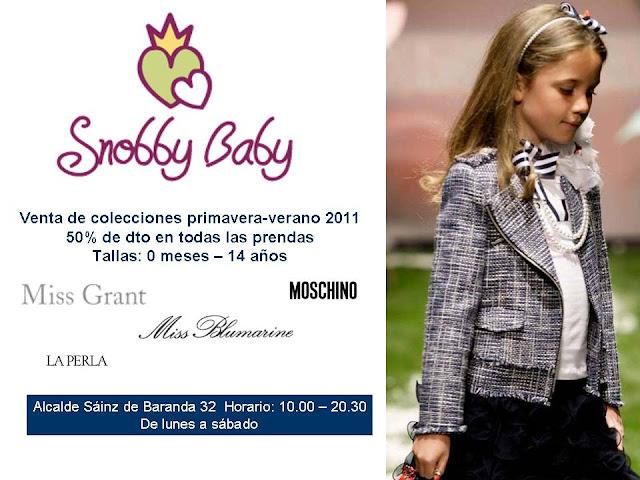 Snobby Baby. Para los peques más fashion de la casa y para los  fashion más peques de la casa. Promoción especial de Primavera-Verano 2011