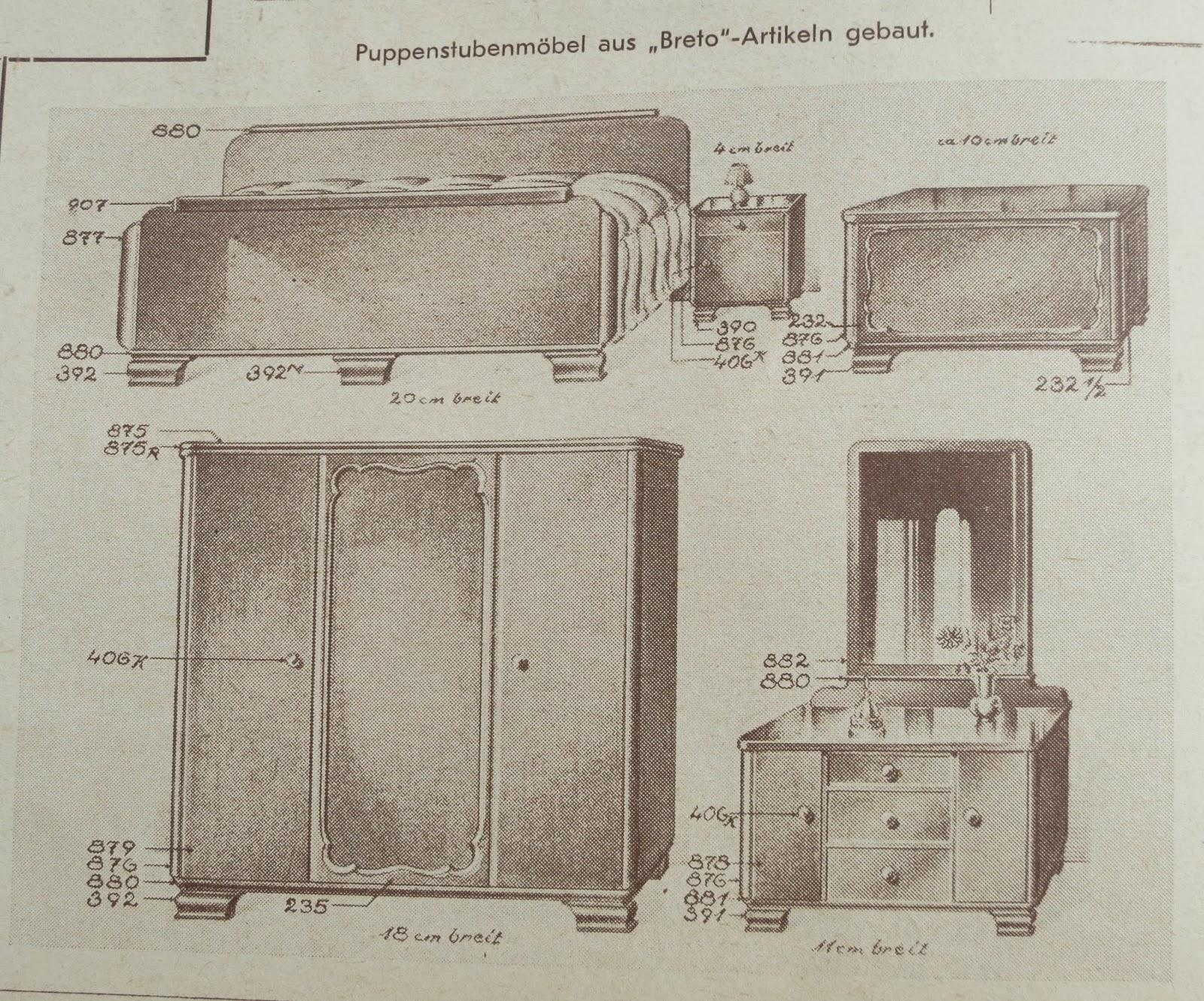 diepuppenstubensammlerin 1930er baumaterialien f r puppenh user 1930s diy dolls houses. Black Bedroom Furniture Sets. Home Design Ideas