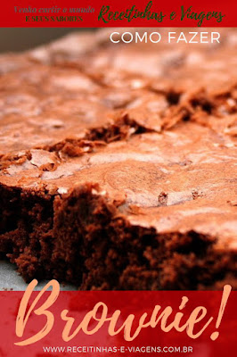 Receita de Brownie de chocolate