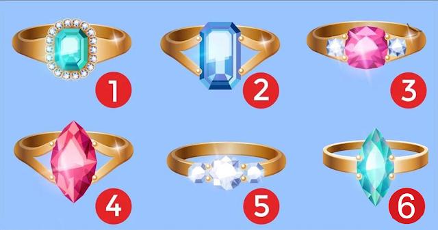 Выберите кольцо, которое Вам понравилось, и узнайте много нового о своей личности!