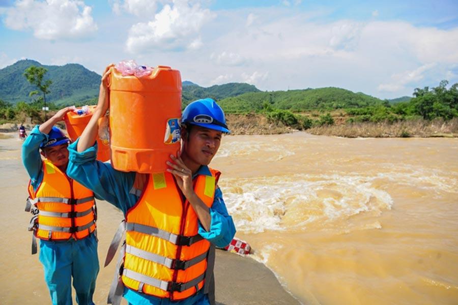 Quá trình chuẩn bị ứng phó với bão số 5 của Viettel tại các tỉnh miền Trung