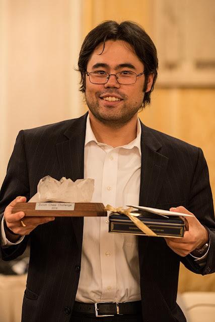 Hikaru Nakamura ganador del Zurich Chess Challenge 2016 (Foto: David Llada)