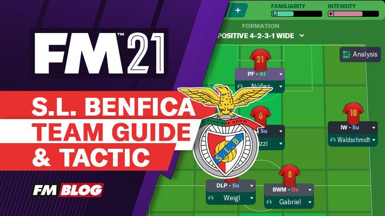 FM21 SL Benfica Tactic Team Guide