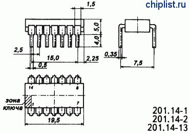 Микросхемы семейства КМОП. Аналоги серии CD40xx
