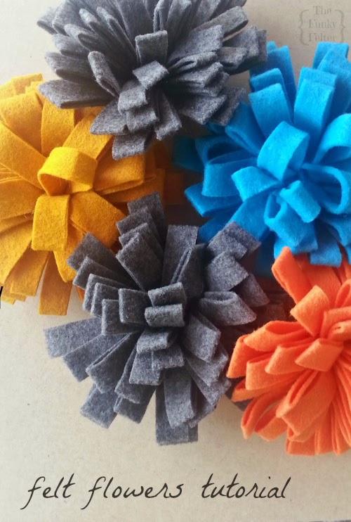 quick and easy felt flowers craft tutorial for just 25 cents per flower