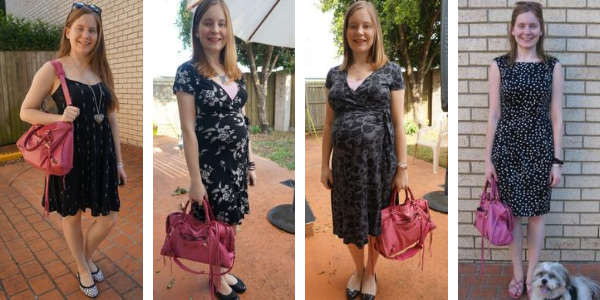 4 ways to wear little black dresses with pink balenciaga sorbet city bag  awayfromblue