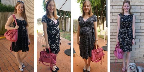 4 ways to wear little black dresses with pink balenciaga sorbet city bag  awayfromblue
