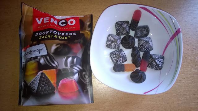 Venco Droptoppers Lakritze weich & süß gemischt.