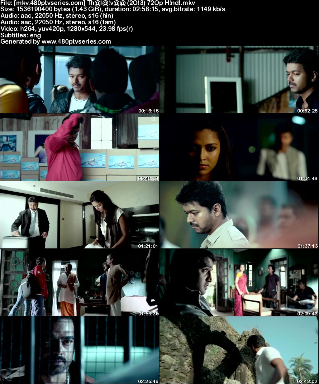 Watch Online Free Thalaivaa (2013) Full Hindi Dual Audio Movie Download 480p 720p Bluray