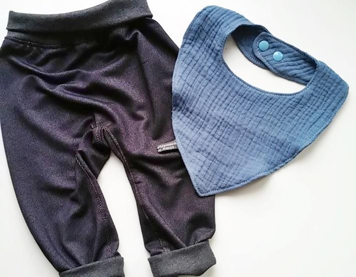 blaue Babyhose und Laetzchen - DIY