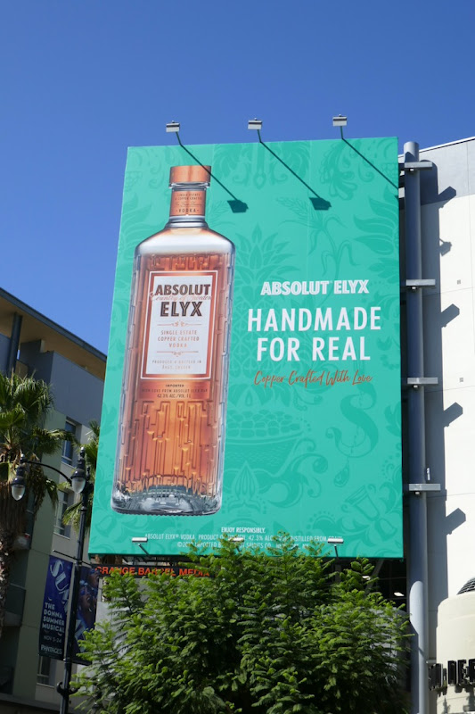 Handmade for real Absolut Elyx Vodka billboard
