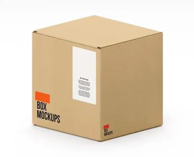 تحميل موك أب صناديق كرتون Box Carton Mockup - هارد المصمم العملاق