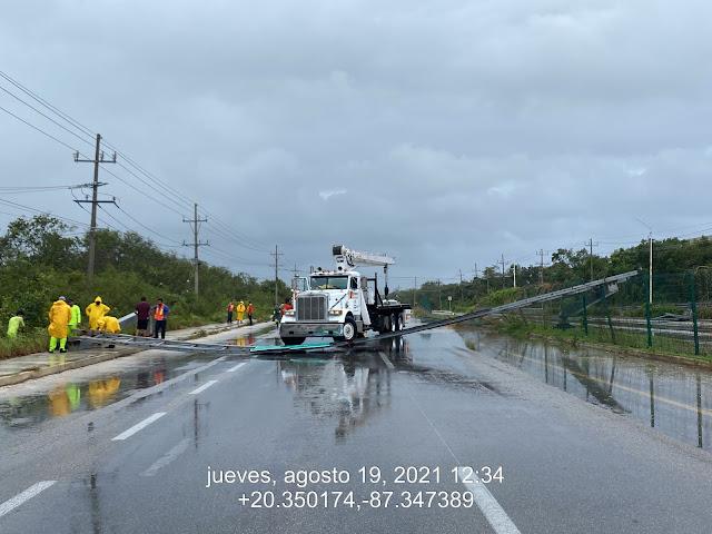Carreteras de la Península de Yucatán no reportan afectaciones relevantes por Grace