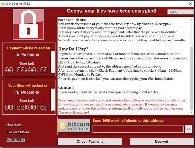 """5 Tips Elak Serangan """"Wanna Cry Ransomware"""" Virus"""