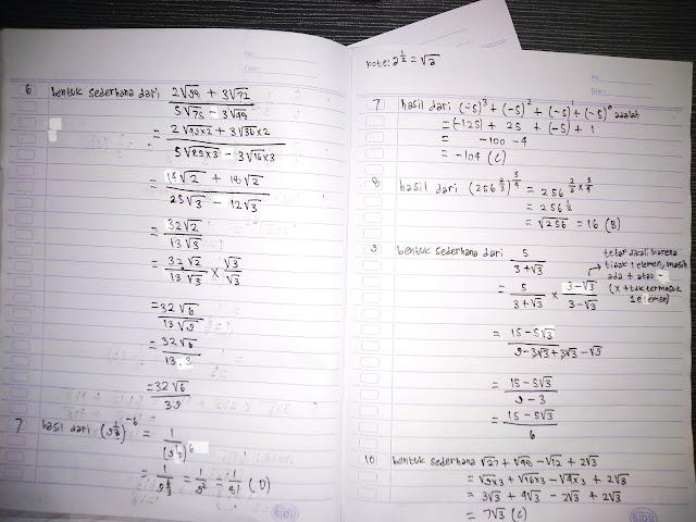 Soal matematika menyederhanakan pecahan SMP