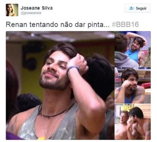 Renan Oliveira do bbb16 arrumando o cabelo