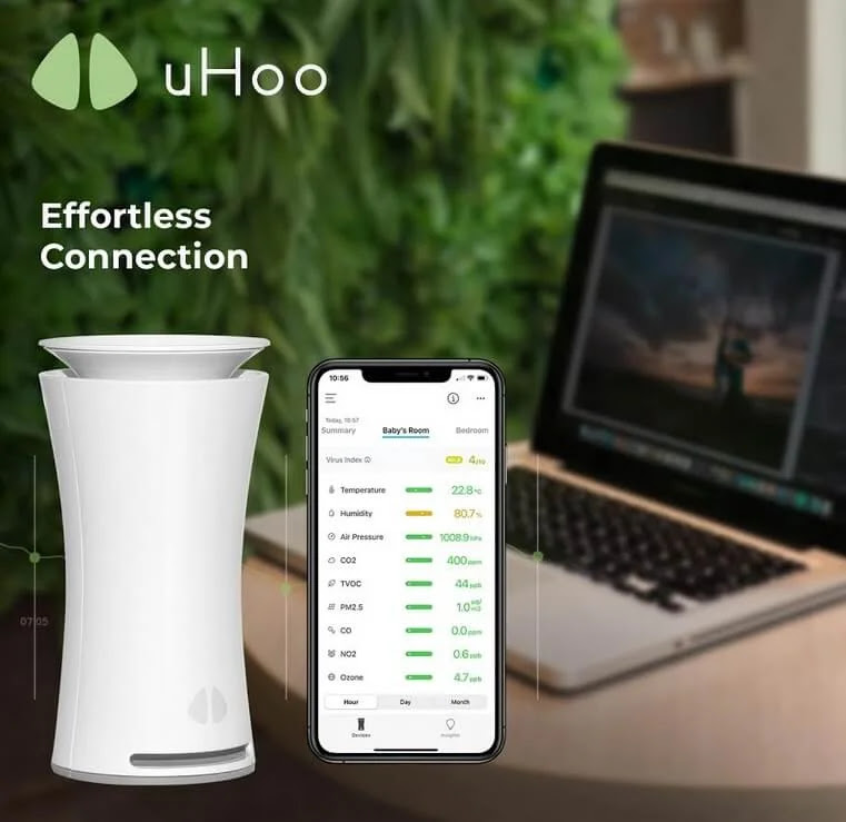 Take Control of the Air You Breathe at Home uHoo Smart Air Monitor